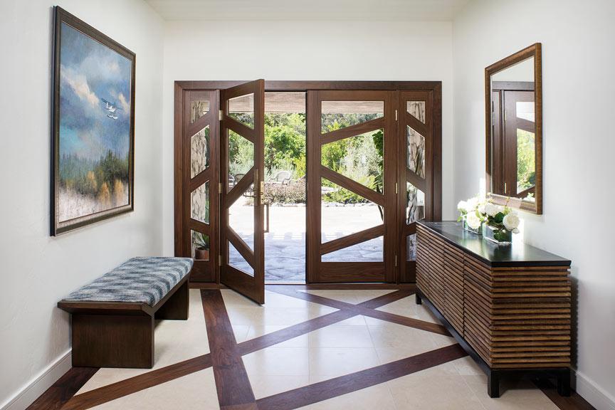 Tile floors and custom doors