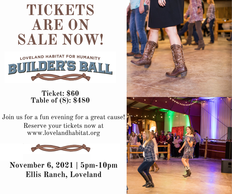 Builders Ball Tickets on sale now!