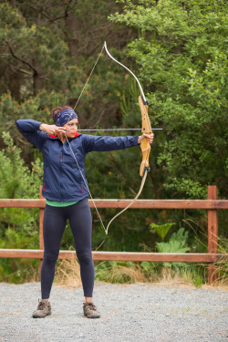 Archery Services - image of woman practicing