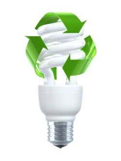 Green Energy CFL bulb image