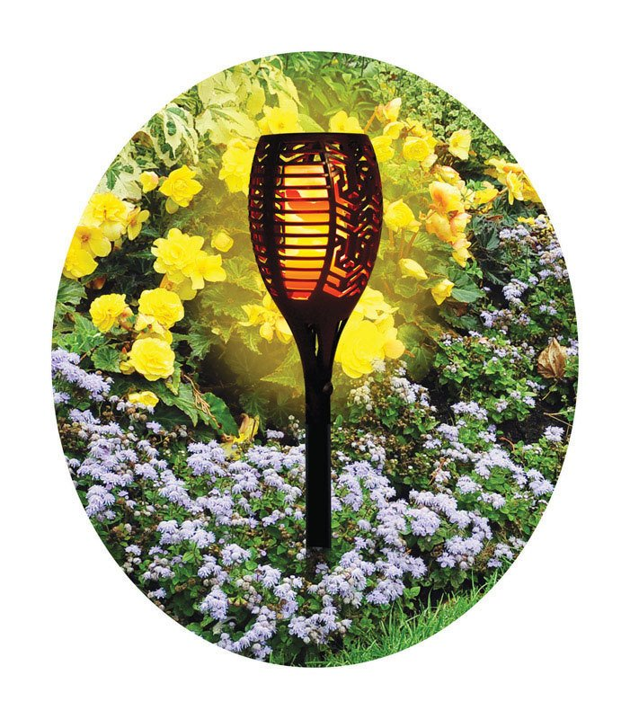 Flickering Flameless Solar LED Garden Torch thumbnail