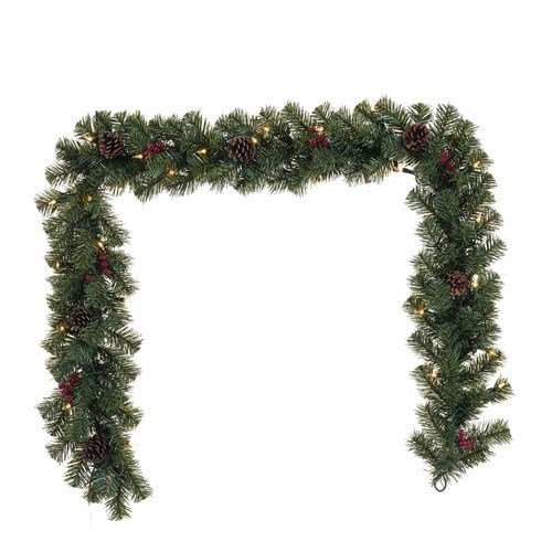 6 ft. Prelit Decorated Garland thumbnail