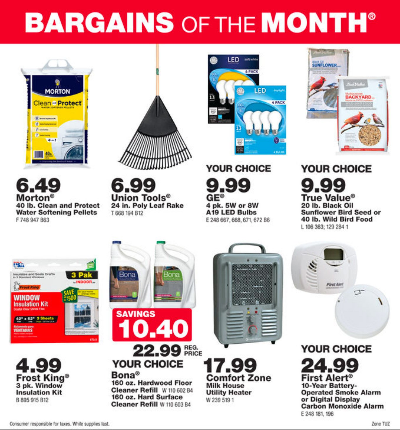 October Bargains of the Month