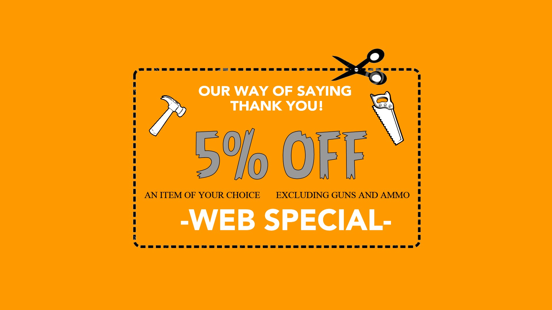 5% off Web Special